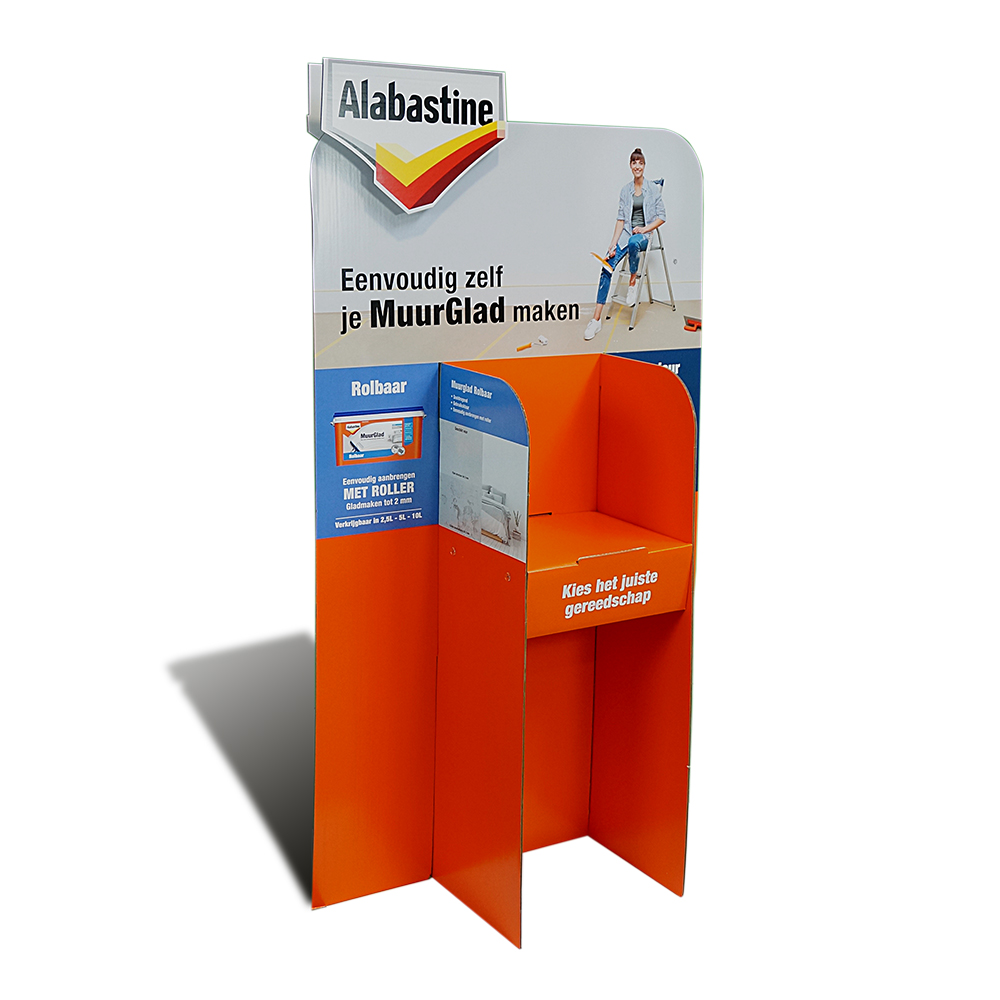 Kartonnen vloerdisplay Alabastine