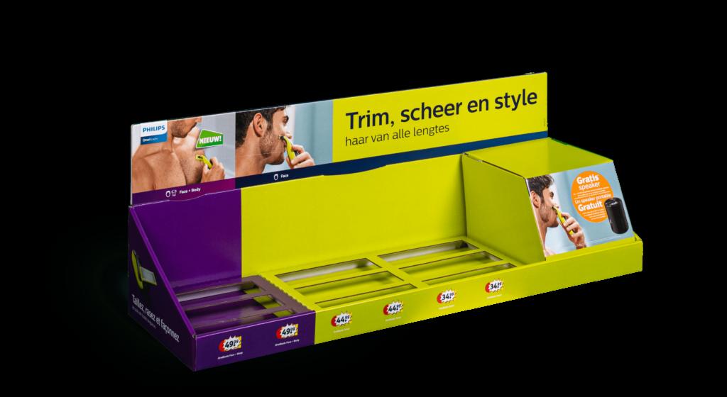 Kartonnen toonbank display Philips